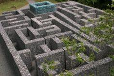 A rare stone maze. The Minotaur Maze at Kielder reservoir.