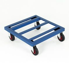 A range of dollies to suit most industrial needs. Steel frame construction with open angle frame deck. Wheels: 4 x swivel castors fitted with diameter solid rubber tyres and roller bearings. Welding Projects, Woodworking Projects, Folding Trolley, Steel Frame Construction, Open Frame, Rubber Tires, Tiny House Plans, Sheet Metal, Workplace