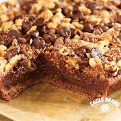 Chocolate Streusel Bars from Eagle Brand®