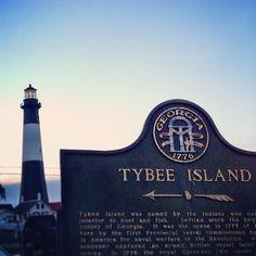 Beautiful Tybee Island at dusk •