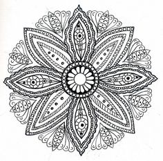 mandala  by dots 'n' doodles, via Flickr