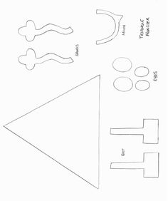 Monster Craft Template | Shapes Crafts - Print your Triangle Monster Template at AllKidsNetwork ...