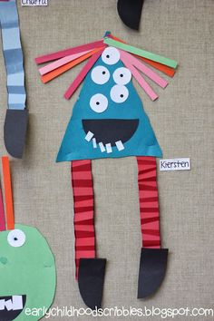 healthy food recipes that taste good to be pregnant song Monster Activities, Monster Crafts, Color Activities, Kindergarten Art Projects, Kindergarten Activities, Educational Activities, Fall Preschool, Preschool Crafts, Preschool Shapes
