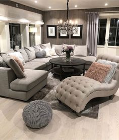 [New] The 10 Best Home Decor Today (with Pictures) - Living Room inspo Sectional sofas coffee tables and accent chairs - - - - - - - - - - - Living Room Decor Cozy, Home Living Room, Apartment Living, Interior Design Living Room, Bedroom Decor, Modern Living Room Designs, Living Room Ideas, Bedroom Furniture, Living Room Goals