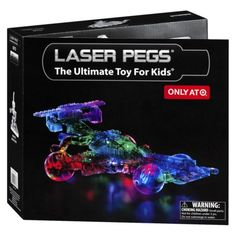 Laser Pegs light up as you build. An innovative building toy that has won numerous awards.