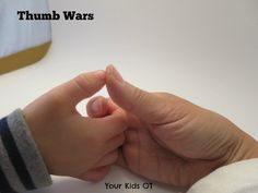 Thumb Wars! Finger games to warm up! Your Kids OT