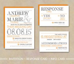 DIY Printable Wedding Invitation MODERN LOVE por StudioVeil