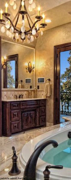 Tuscan bathroom.
