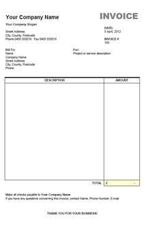 1000+ images about invoice on Pinterest | Invoice Template and