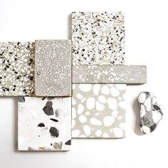 Beachy terrazzo accents in the bathrooms? Terrazzo Flooring, Bathroom Flooring, Küchen Design, Tile Design, Interior Inspiration, Design Inspiration, Floor Texture, Material Board, Interior Decorating