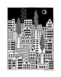 In the City illustration