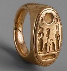 Finger Ring of King Akhenaten and Queen Nefertiti
