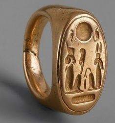 Finger Ring of King Akhenaten and Queen Nefertiti