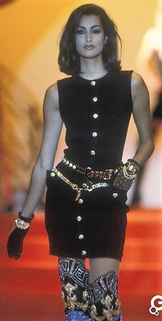 Yasmeen Ghauri  - Gianni Versace, Autumn-Winter 1991, Couture