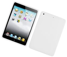 """Amazon.com: Daisy White {Matte Modern Plain} Soft and Smooth Silicone Cute 3D Fitted Bumper Back Cover Gel Case for iPad Mini 1, 2 and 3 by Apple """"Durable and Slim Flexible Fashion Cover with Amazing Design"""": Computers & Accessories"""