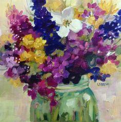 """Maximum Joy"" original fine art by Libby Anderson"