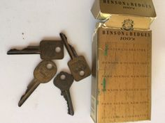 Vintage Brass Keys Set of Four  Antique ILCO Ornate Key by misseileen on Etsy