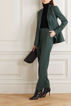 Classy Outfits, Casual Outfits, Cute Outfits, Dress Casual, Business Outfits, Office Outfits, Green Suit Women, Suits Women, Womens Dress Suits