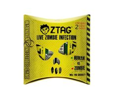 ZTag- A Live Action, Zombie Themed Game of NO Contact Tag- Interactive LED Smart Badges do the 'tagging' - 2 Player Pack. ACTIVE-PLAY FUN AND EXCITING TEAMWORK CHALLENGE: All players utilize motor, social and cognitive skills The Zombie objective is to 'infect' Human players to turn them into Zombies and then work together to outsmart the remaining survivors. The Human objective is to be the last survivor of your Backyard Zombie Apocalypse. READY TO PLAY RIGHT OUT OF THE BOX: Pin on your...