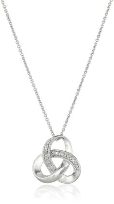 Sterling Silver Diamond Accent Knot Pendant Necklace , 18' >>> Learn more by visiting the image link.
