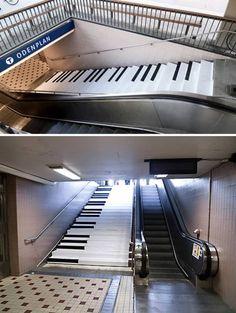 10 Unique Staircase Ads Street marketing #guerilla #piano http://arcreactions.com/