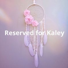 Dreamcatcher réservée Kaley par InspiredSoulShop sur Etsy