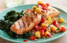 Citrus Wild Salmon With Mango Red Pepper Salsa  https://www.rodalewellness.com/food/citrus-wild-salmon-with-mango-red-pepper-salsa