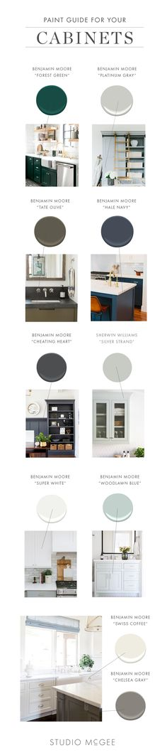Paint Guide: Cabinet Colors   Studio McGee