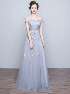 Gray Prom Dresses,off the shoulder Prom Dress,Gray#prom #promdress #dress #eveningdress #evening #fashion #love #shopping #art #dress #women #mermaid #SEXY #SexyGirl #PromDresses