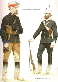Brevet Colonel A.W.Dunford RE and trooper Natal Carabiners 1879