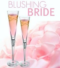 Blushing Bride Cocktail 1 oz Peach Schnapps 1 oz Grenadine 4 oz Champagne. This sounds like my kind of drink. I love champagne! by liza