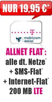 Allnet Flat 200 MB LTE mit Telekom Special Allnet Promotion 19.95 Aktion Vertrag!