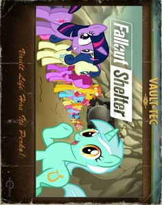 My Little Pony Fallout Shelter. I love this game and had to ponify it. Sorry it's sideways.