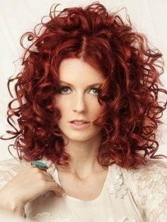 I love this red!!!! I want to do it on some one! If i had her skin tone i would totally rock this!