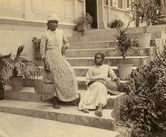 Jamaican woman and girl (circa 1870)