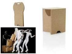 Taburetes de cartón plegables