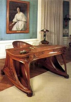 Eugene Vallin Art Nouveau desk. There weren't many pieces of Art Nouveau furniture made before Art Deco took over.