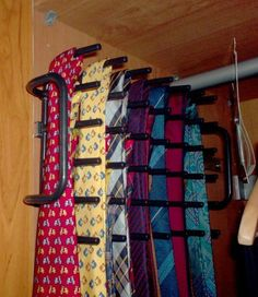 Boholmen repurposed as tie rack it was mounted  on a drawer rail so that the tie rack can be extracted