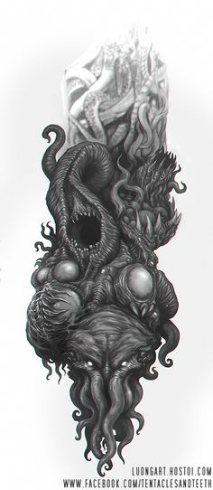 Great Old Ones Tattoo by TentaclesandTeeth.deviantart.com on @DeviantArt