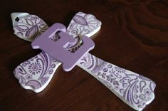 Purple Paisley Girls Wall Cross Girls Baptism Gift by HairSweets, $18.00