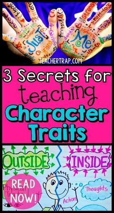 Kids having trouble understanding character traits? Read about the 3 secrets for teaching character traits so that the kids really
