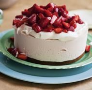 Balsamic Strawberry Ice Cream Cake