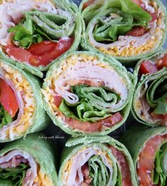 Turkey Club Tortilla Pinwheels