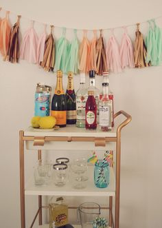 Easy DIY Bar Cart