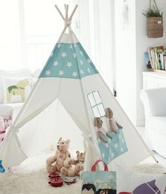 Children teepee tent baby play tent by goodhapy on Etsy Diy Teepee, Teepee Tent Camping, Kids Tents, Play Tents, Indoor Tents, Tent Design, Blog Deco, Baby Play, Girl Room