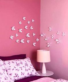 Flores de rolos de papel higienico