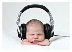 baby with headphones - Google Search