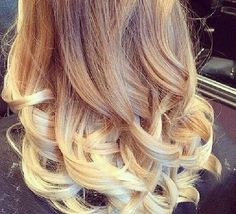Blonde tips\ombre