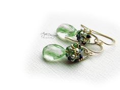 Green Pyrite earrings by anthology27