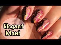 Elegant Gold & Black, Gradient Nail Art Design - YouTube